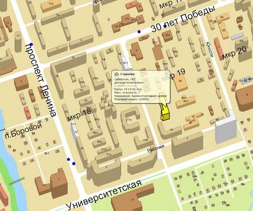Детская поликлиника 125 на карте